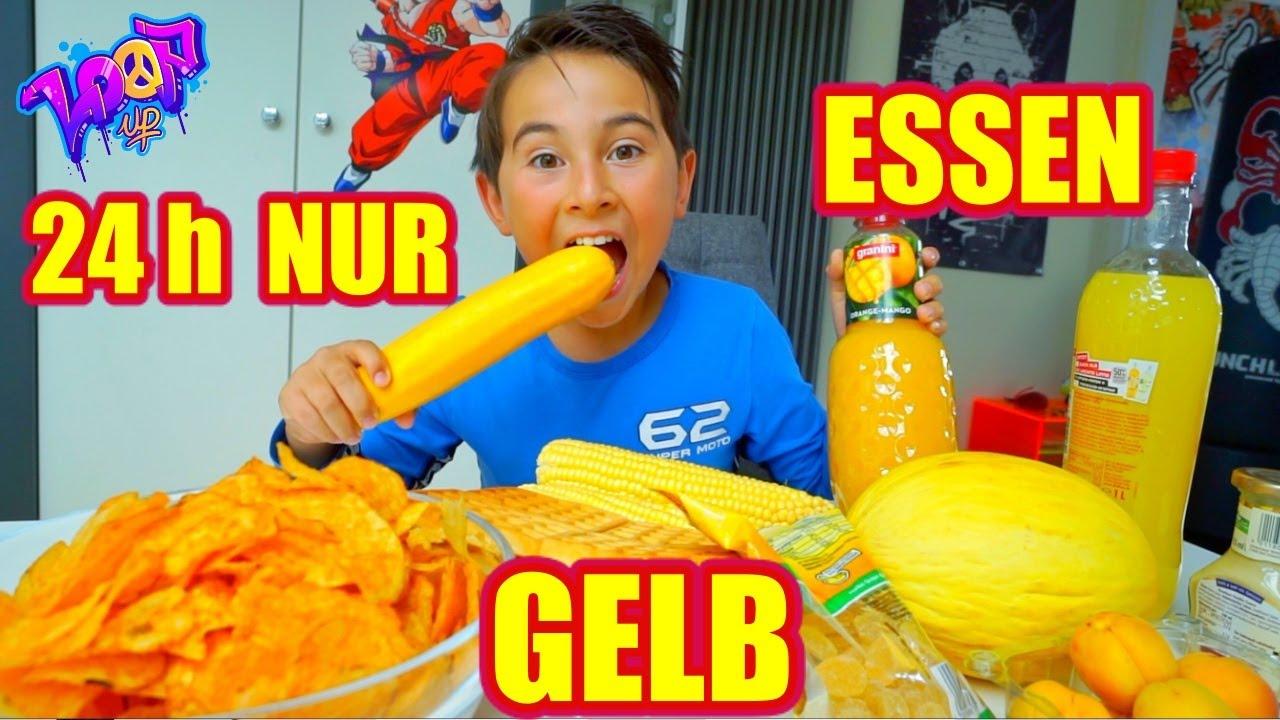 Nur gelbes Essen | 24h nur eine Farbe | Johann Loop