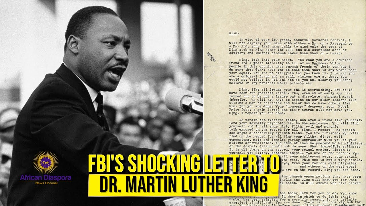 FBI's Letter To Dr King Urged Him To Take His Own Life Or Be Exposed