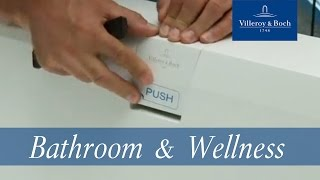 How to install - Squaro Edge 12 Waste-Overflow | Villeroy & Boch