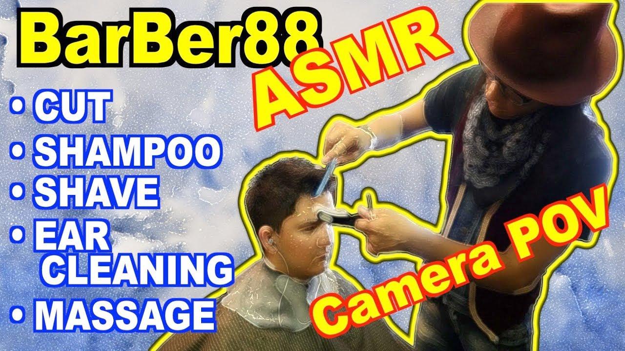 Camera POV - Lucas's 1st ASMR Japanese Barber Experience