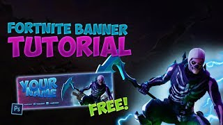 FREE FORTNITE TWITTER BANNER TEMPLATE HD (PSD+FREE)