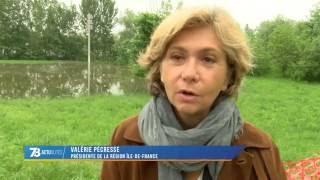 Inondations : la Présidente de la Région Ile-de-France à Carrières-sous-Poissy