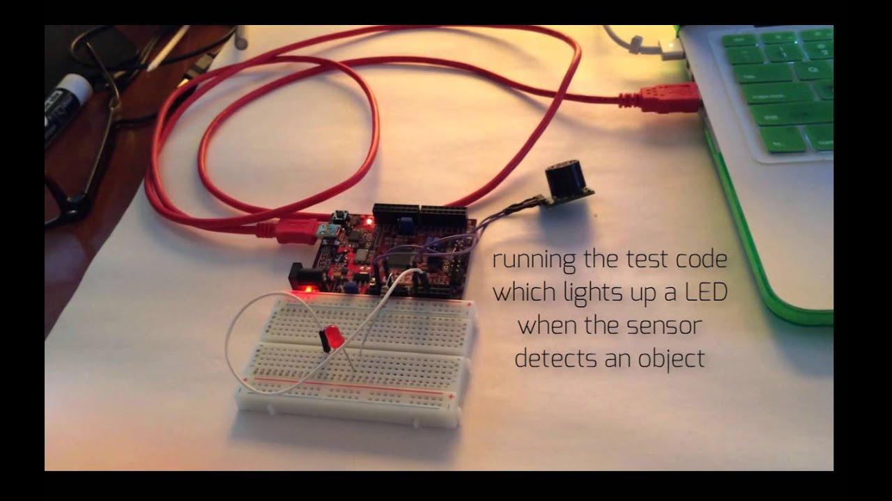 Pmod-maxsonar demo led code