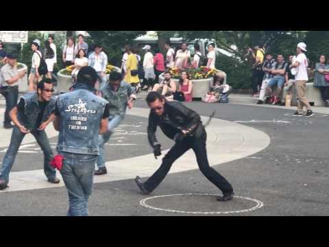 Rockabilly dancers in Yoyogi park - Tokyo Japan
