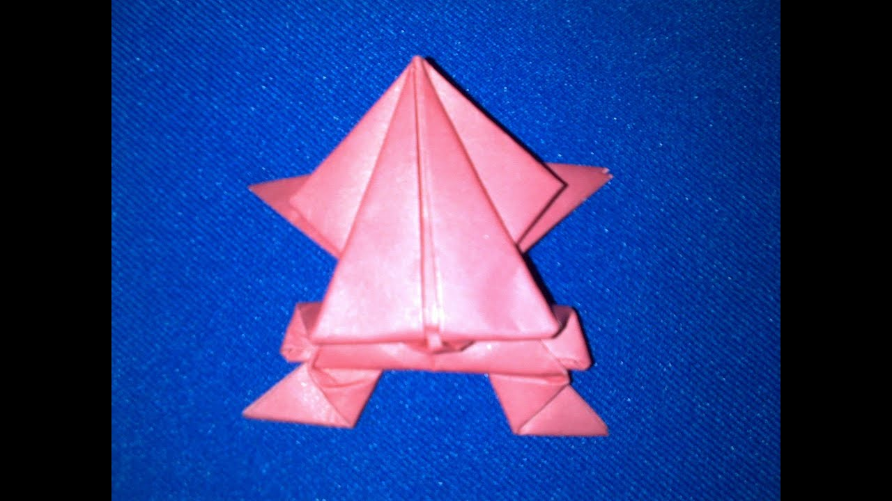 How to Make an Origami Frog | Origami Jumping Frog - YouTube - photo#33