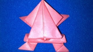 How To Make An Origami Frog | Origami Jumping Frog