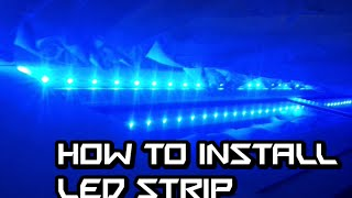 How To Install Led Light Strip On Window Frame