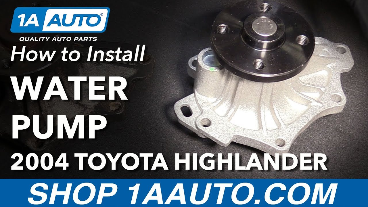 medium resolution of how to install replace engine water pump 2001 05 toyota highlander l4 2 4l