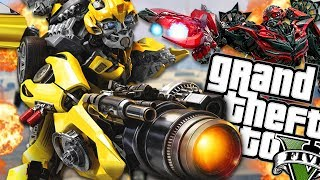 THE NEW BUMBLEBEE VS EVIL BUMBLEBEE MOD (GTA 5 PC Mods Gameplay)