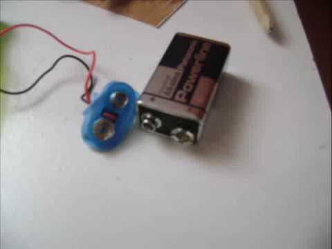 how to make an 9 volt battery holder youtube. Black Bedroom Furniture Sets. Home Design Ideas