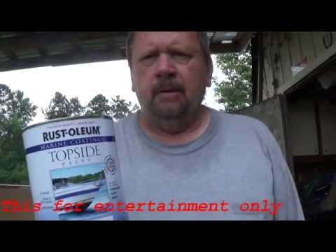 Rust Oleum Topside Paint (Robalo Boat Project 60)