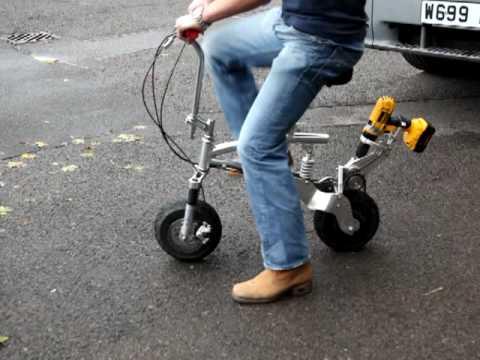 Battery Drill Bike Youtube