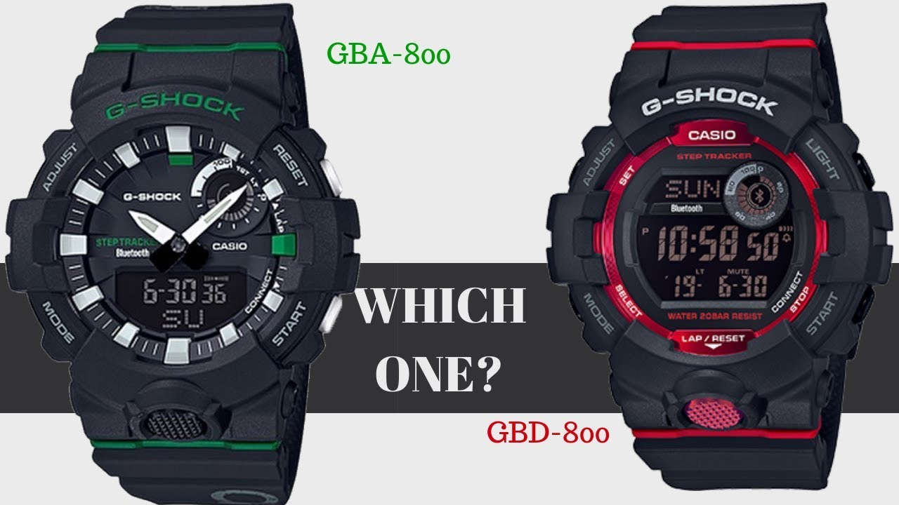 ad58f5718 Casio G Shock GBA -800 vs GBD-800 Step Tracker