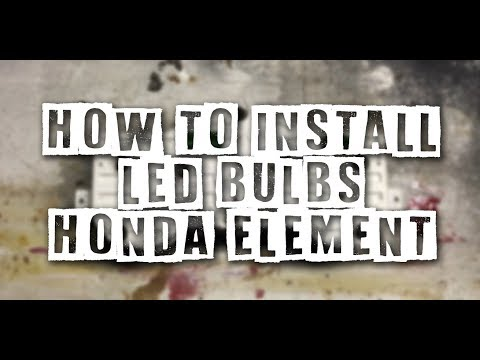 How To Install LED Bulbs Into Your Honda Element Gauge Cluster - Super Easy