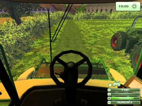 Farming Simulator 2013   Silaging With Krone Big X 1000, Fendt 936 And Woods 16x8 Silage Trailer