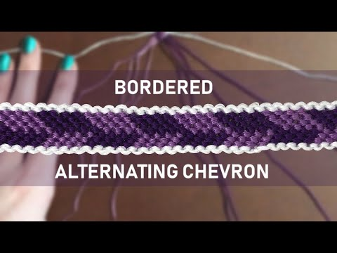 BORDERED Alternating Chevron Friendship Bracelet Tutorial