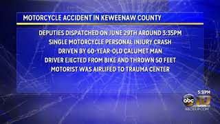 Man taken to high level trauma center after motorcycle accident