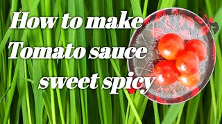 How to make Tomato sauce# sweet spicy#