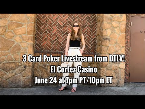 First Ever 3 Card Poker Livestream! June 24 2019