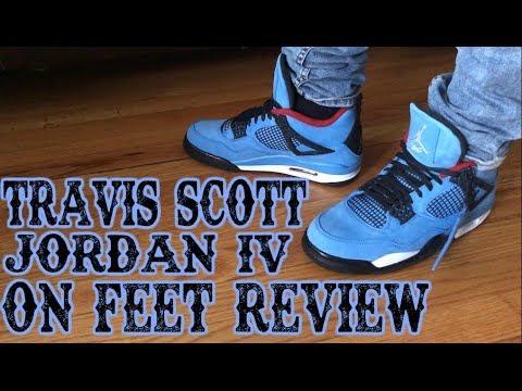 4af16f3c5eacd1 JORDAN 4 TRAVIS SCOTT CACTUS JACK REVIEW AND ON FOOT !!! - YouTube