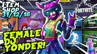 Fortnite Item Shop *NEW* DJ BOP SKIN GAMEPLAY! [December 31st, 2018] (Fortnite Battle Royale)