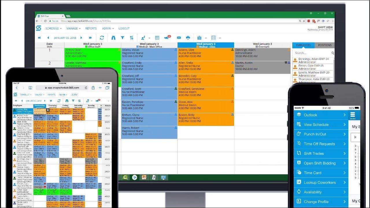 Doctor Scheduling - Employee Scheduling Software | Snap Schedule