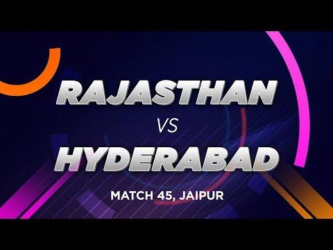 Cricbuzz LIVE: Match 45, Rajasthan V Hyderabad, Pre-match Show