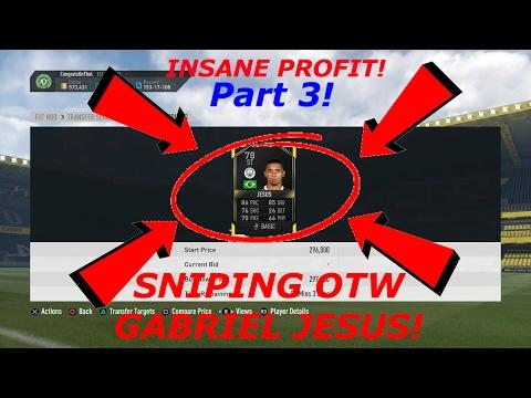 FIFA 17 - Sniping OTW GABRIEL JESUS - 2 *INSANE* OTW GABRIEL JESUS SNIPES! Part 3