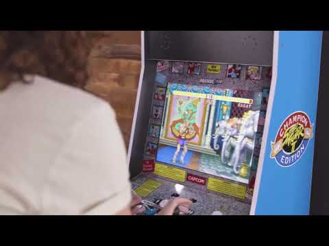 Arcade1up Street Fighter 2 Big Blue - Official Announcement _ Summer of Gaming - JUSTUSGAMERS from JUSTUSGAMERS