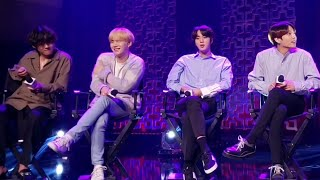 200127 Suga's Interlude BTS iHeartRadio Live 2020 LA Interview Part 4 Fancam KIISFM Live 방탄소년단