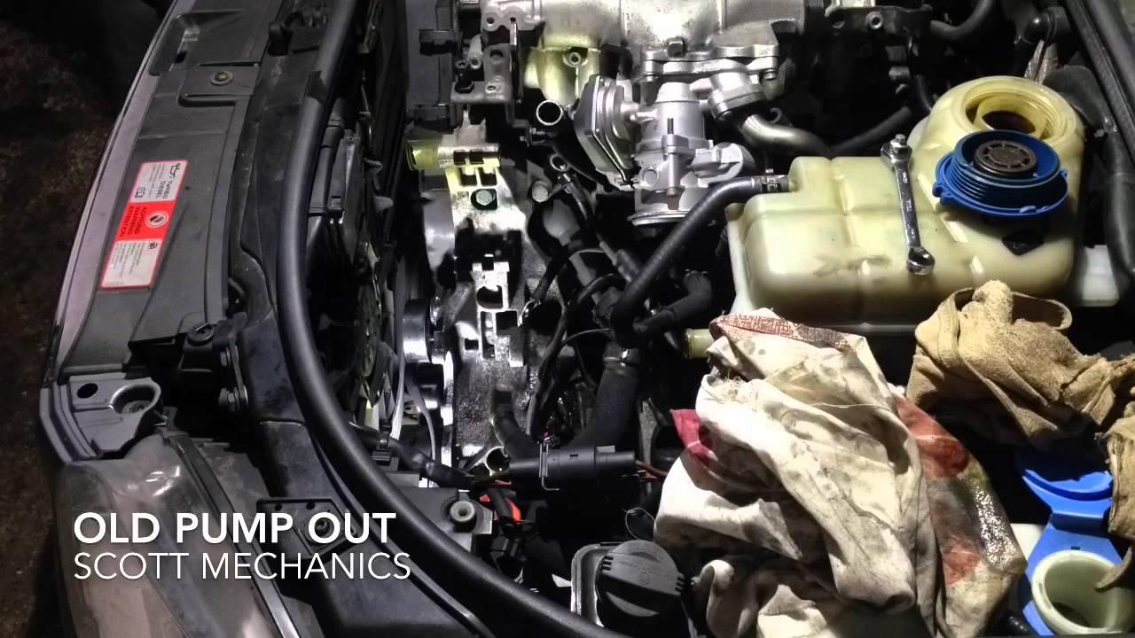 AUDI A4 noisy power steering pump replaced by Scott mechanics  YouTube