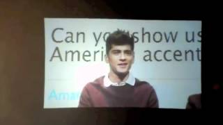 One Direction Show us their American Accents