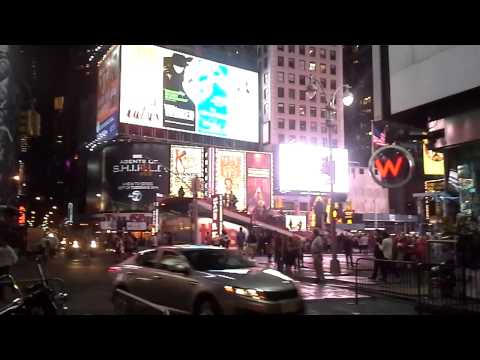 New York City up-close - A surrealistic tour of Times Square at night - September 2013