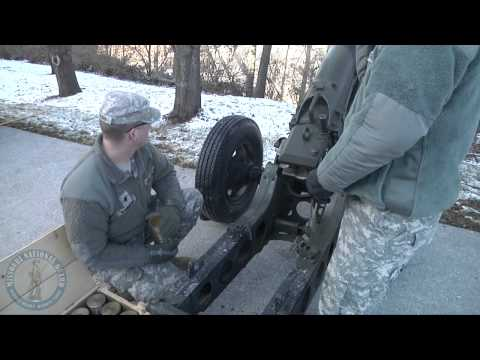Battery A, 1-129th FA provides 19 gun salute