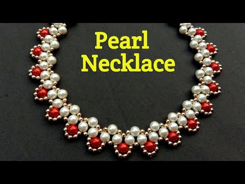 Pearl Necklace//Making At Home//Hand Made Necklace// Useful & Easy