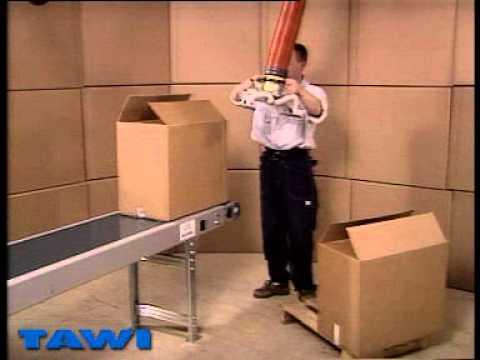 Här visar vi hur man hanterar en öppen kartong i ett lager.