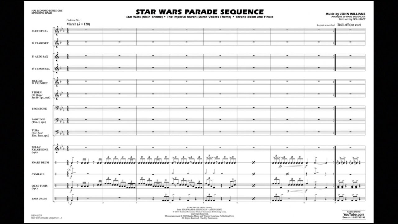 Star Wars Parade Sequence by John Williams/arr  Lavender & Rapp