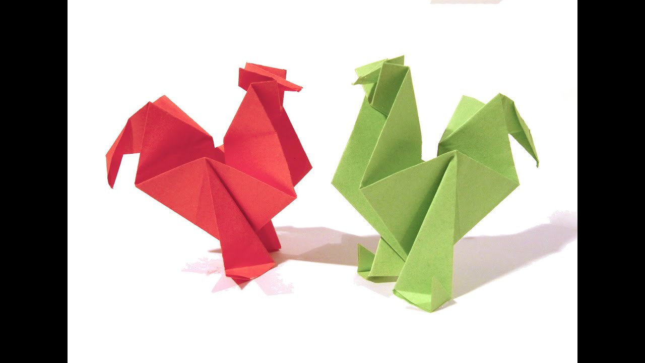 easter origami rooster hen tutorial how to make an