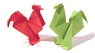 Easter Origami Rooster / hen - Tutorial - How to make an origami rooster / hen