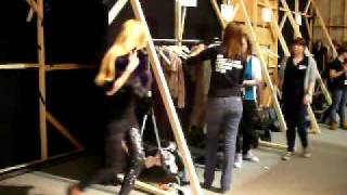 Supertrash show from backstage perspective  A FW 2010