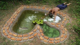Build Stone Fish Pool Underground