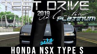Test Drive Unlimited Platinum - Honda NSX Type S Zero (TDU menu screen car)