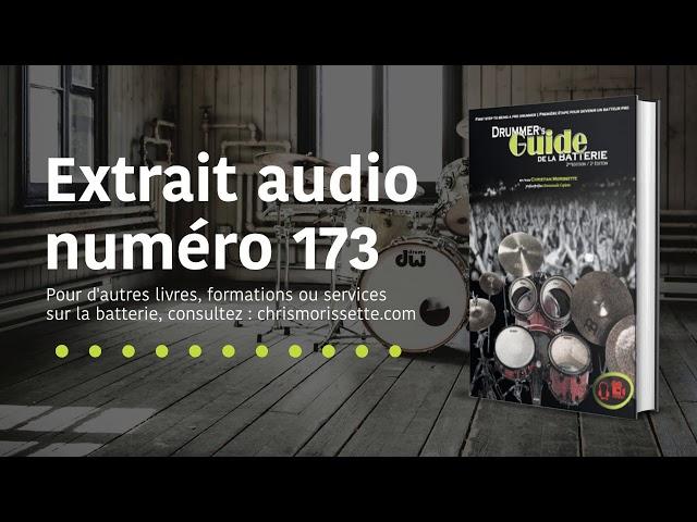 Extrait audio numéro 173 - Drummer's Guide de la batterie
