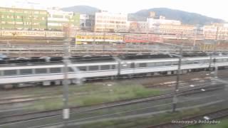 下関電車区 留置キハ181系 走行車内から撮影
