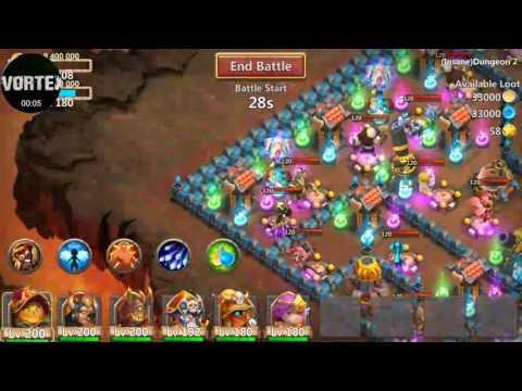 Castle Clash Insane Dungeons 2 1-10 3 Flame