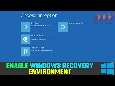 How to Enable Windows Recovery Environment on Windows 10