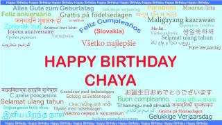 Chaya   Languages Idiomas - Happy Birthday