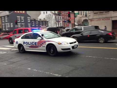 3 WASHINGTON DC METRO POLICE UNITS & U.S. SECRET SERVICE UNIT STAGING DURING INAUGURAL EVENTS.