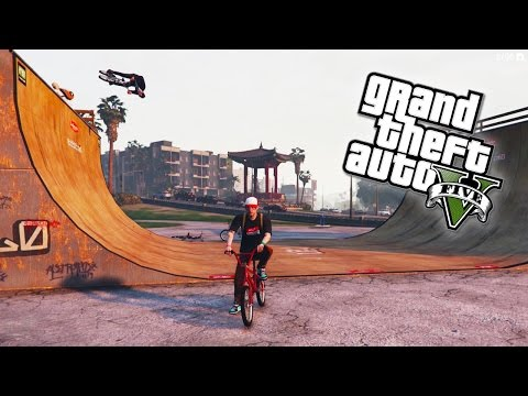 GTA 5 Next Gen - BMX STUNTS! Epic BMX tricks in GTA Online! (GTA 5 PS4 & Xbox One)