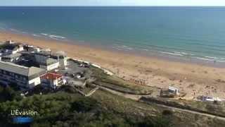 visite camping vendée en drône vidéo aérienne Evasion Vendée